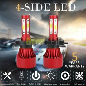 Cree H4 Hb2 9003 5500w 650000lm 4 sides Led Headlight Kit Hi lo Power Bulb 6000k