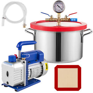 1 5 Gallon Vacuum Chamber And 3 6 Cfm Single Stage Pump To Degassing Silicone