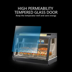 15 Commercial Food Warmer Court Heat Food Pizza Display Warmer Cabinet Glass Us