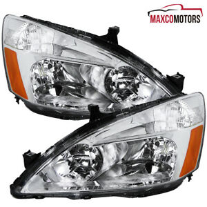 For 2003 2007 Honda Accord Sedan coupe Headlights Head Lamps Left right 03 04 05