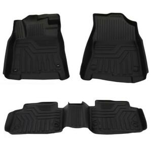 All Weather Floor Mats Liners For 2016 2020 Honda Civic Rubber Black 3pcs Set