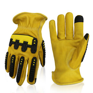 G tuf Total Protection Water Cut Impact Resistant Top Grain Cowhide Gloves