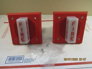 Qty 2 New Wheelock Fire Alarm Speaker W Light Wall Mount Ch df1 ws 24