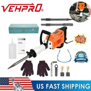 3500w 9 5ft Electric Breaker Concrete Demolition Hammer Jack With Case Gloves