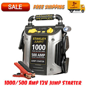 1000 500 Amp 12v Jump Starter With Led Light And Usb j509 Built in Ac Charger