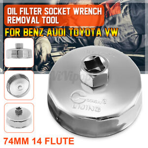 74mm 14 Flute Oil Filter Cap Wrench Socket Remover Tool For Benz Audi Toyota Us