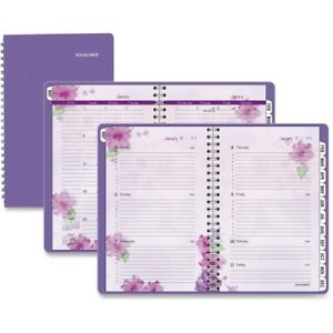 Beautiful Day Desk Weekly monthly Appt Book 5 1 2 X 8 1 2 Purple 2014