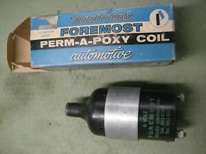 New 6 Volt Epoxy Filled Ignition Coil Universal Obsolete Vintage Antique