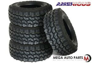 4 Americus Rugged Mt 31x10 50r15lt 109q C 6 All Season Mud Terrain Truck Tire