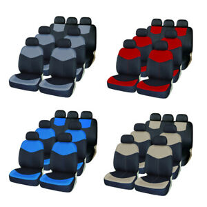 3 Row 7 Front Rear Car Seat Covers Comfortable Full Set For Auto Suv Van Truck
