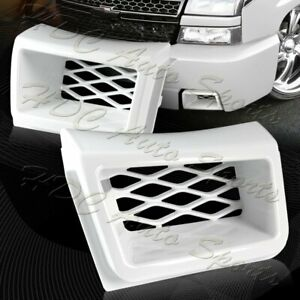 For 03 07 Silverado 1500 Ss style Painted White Air Duct Front Bumper Caliper