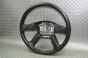 03 07 Gm Truck Black Leather Steering Wheel W Radio And Information Controls Oem