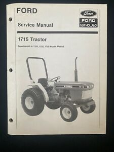 Ford New Holland Service Manual 1715 Tractor Supplement 1423