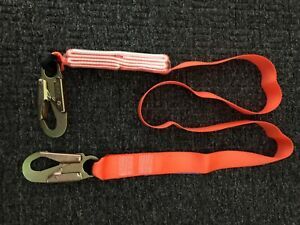Fall Protection Safety Lanyard 6 Internal Shock absorbing With Snap Hooks