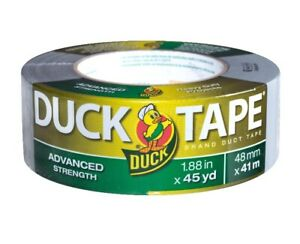 Duck Brand Duct Tape Roll Advanced Strength Silver Gray 1 88 X 45 Yd