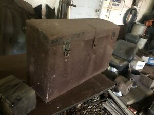 Original 1920 s Essex Luggage Rack Mount Potter Trunk Enclosure Antique Car