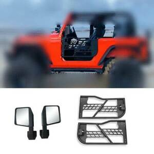 Carbon Steel Half Tube Door With Mirrors Fit For Jeep Wrangler Jk 2dr 2007 2017
