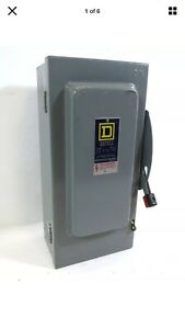 Square D H 322 n 60a 240v Fusible Safety Disconnect Switch H322n 60 Amp Loc2s3