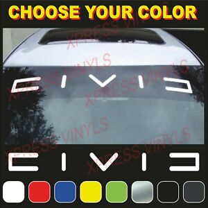 Honda Civic Windshield Banner Decal Emblem Logo Graphics