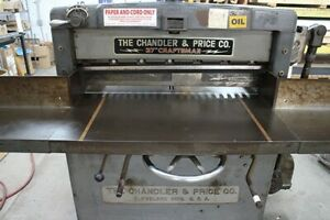The Chandler Price 37 Paper Cutter 110 220