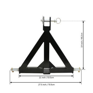 3 Point 2 Trailer Hitch Receiver Tow Drawbar Heavy Duty Steel One Tractor Us