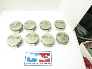 Je Gas Ported 23 Degree Flat Top 4 030 Pistons Imca Ump Sbc Manley