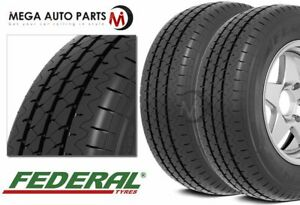 2 X Federal Ecovan Er02 215 70r15 Commercial C Tires