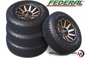 4 X Federal Xplora A P Lt285 75r16 126 123q 10ply All Terrain A T Tires