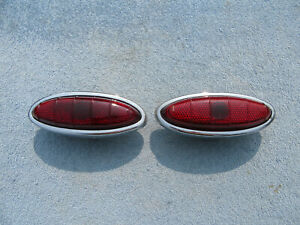 1949 1950 Ford Shoebox Coupe Convertible Tail Lights Pair