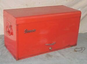 Snap On Tools 9 Drawer Tool Chest Box Cabinet With Key Nine Drawer Nice Vintage
