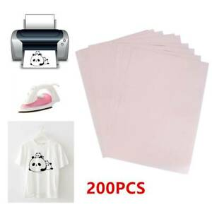 200pcs A4 Iron On Heat Transfer Sublimation Paper For Inkjet T shirt Printer Mug