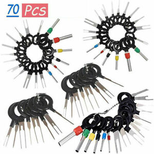 70pcs set Pin Ejector Wire Kit Extractor Auto Terminal Removal Connector Tool Us