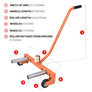 Aain Adjustable Tire Wheel Dolly Moving Tool Cart Roller For Garage Service Shop