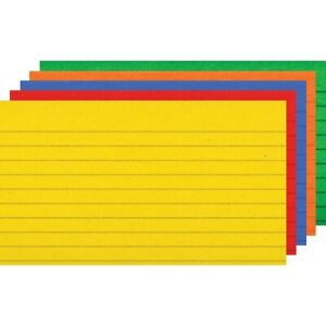 Ruled Primary Color Index Cards By Top Notch Teacher 3x5 3x5 Ruled