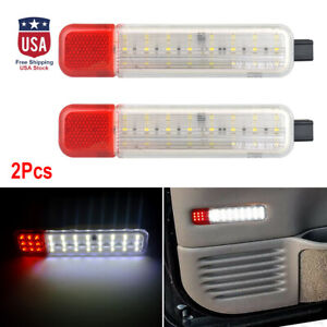 2pcs Red white 24 Led Strobe Lights Emergency Flashing Warning Beacon Lamps Us
