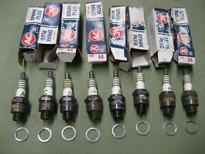 8 New Rusty Ac 44 Spark Plugs Chevy Corvette Chevelle 4 Green Stripe Scripe