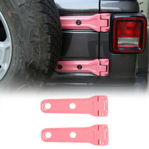 2pcs Rear Tailgate Spare Tire Hinge Cover Trim For Jeep Wrangler Jl Jlu 18 Pink