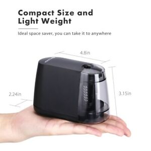 Light Weight Electric Pencil Sharpener For Kids School Home Office