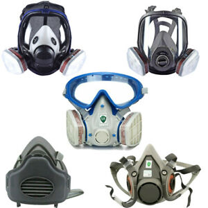 Full half Face Gas Mask Respirator Painting Spraying Safety Protection Facepiece