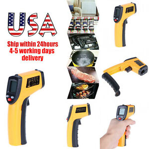 No contact Ir Laser Infrared Digital Temperature Lcd Thermometer Gun Pyrometers
