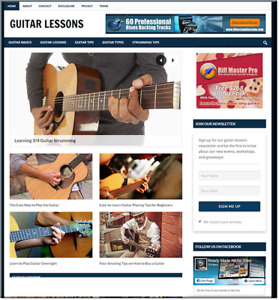 Guitar Lessons Learning Business Website For Sale Money Making Online Affiliate