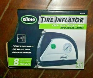 Slime Tire Inflator W Led Light Twist Connect Air Hose Adapters Item 40050
