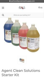 Agent Clean Solutions Starter Kit 4 1 Gallon Jugs Pressure Washing