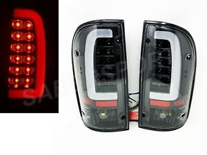 Set Of Pair Black Clear C Bar Led Taillights For 1995 2000 Toyota Tacoma 2wd 4wd