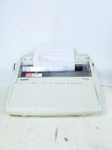 Brother Model Ml100 Typewriter In Good Condition W new Ribbon Yellowed Plastic