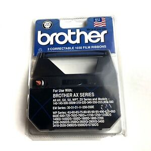 Brother 1230 Black Correctable 1030 Film Ribbon 2 Pack Sealed Ax Series