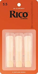 D'Addario Woodwinds RCA0335 B Clarinet Reeds Strength 3.5 3-Pack – Ease of Pl...