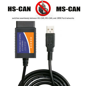 Forscan Pro Elmconfig Obd2 Usb Adapter Diagnostic Tool Hs Ms Can Auto Switch