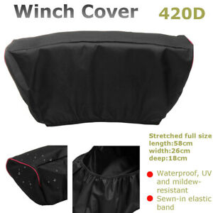 420d Waterproof Soft Winch Heavy Dust Cover Driver Roll Recovery 5000 13000 Lbs