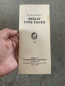 Advertising Skelly Typesetting Co One Line Specimens Type Faces Typographers